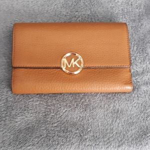 Michael Kors Tan Pebbled Leather Wallet